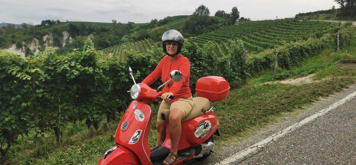 vespa tour langhe piedmont italy