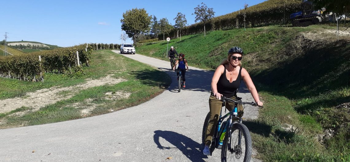in ebike in the langhe