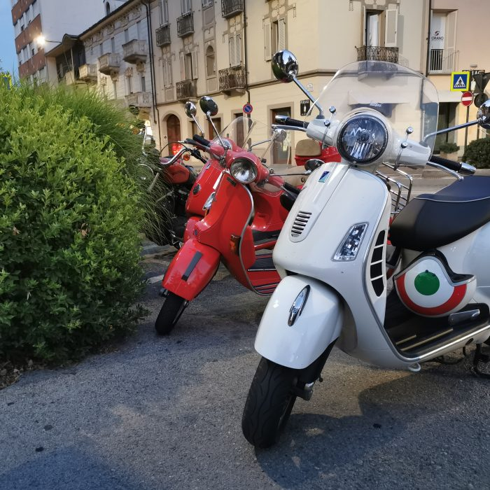 Vespa in the Langhe at a standstill