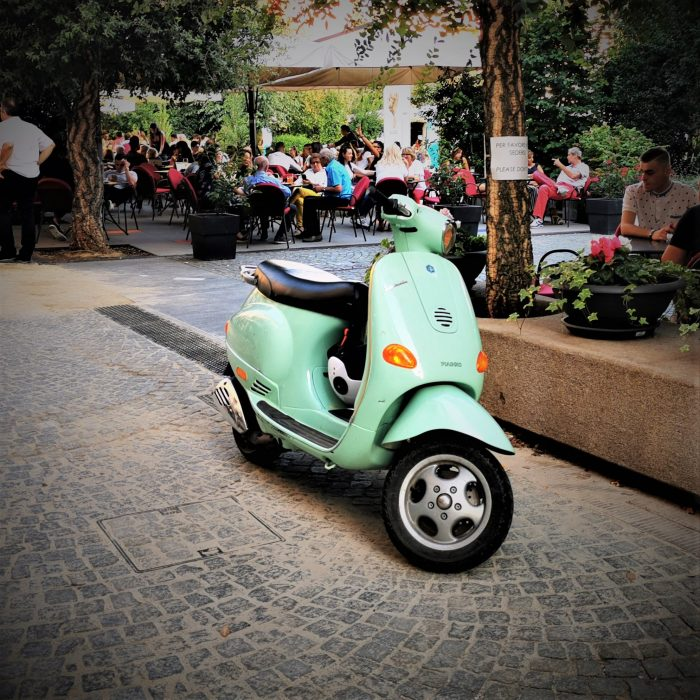 A Vespa in the Langhe