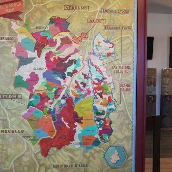 Mappa zone del Barolo docg