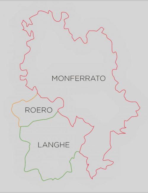 Guida Langhe Roero Monferrato - le aree geografiche