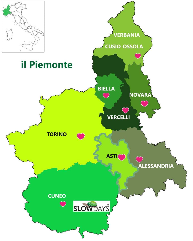La Cartina Del Piemonte.Il Piemonte Terra Schiva Ed Affascinante Ecco Una Breve Guida