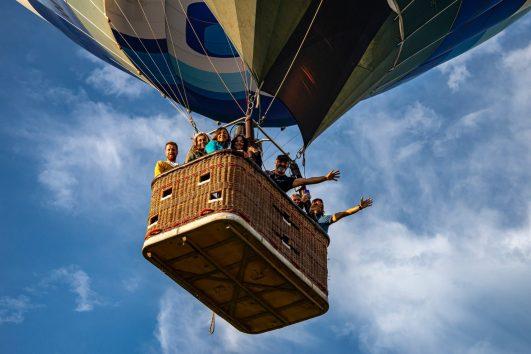 volo in mongolfiera addio al nubilato